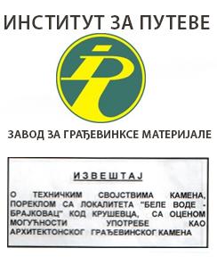 Institut za puteve - ispitivanje kamena
